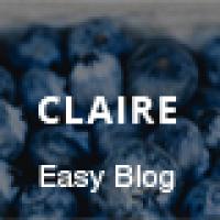 Claire - Personal Blogging WordPress Theme