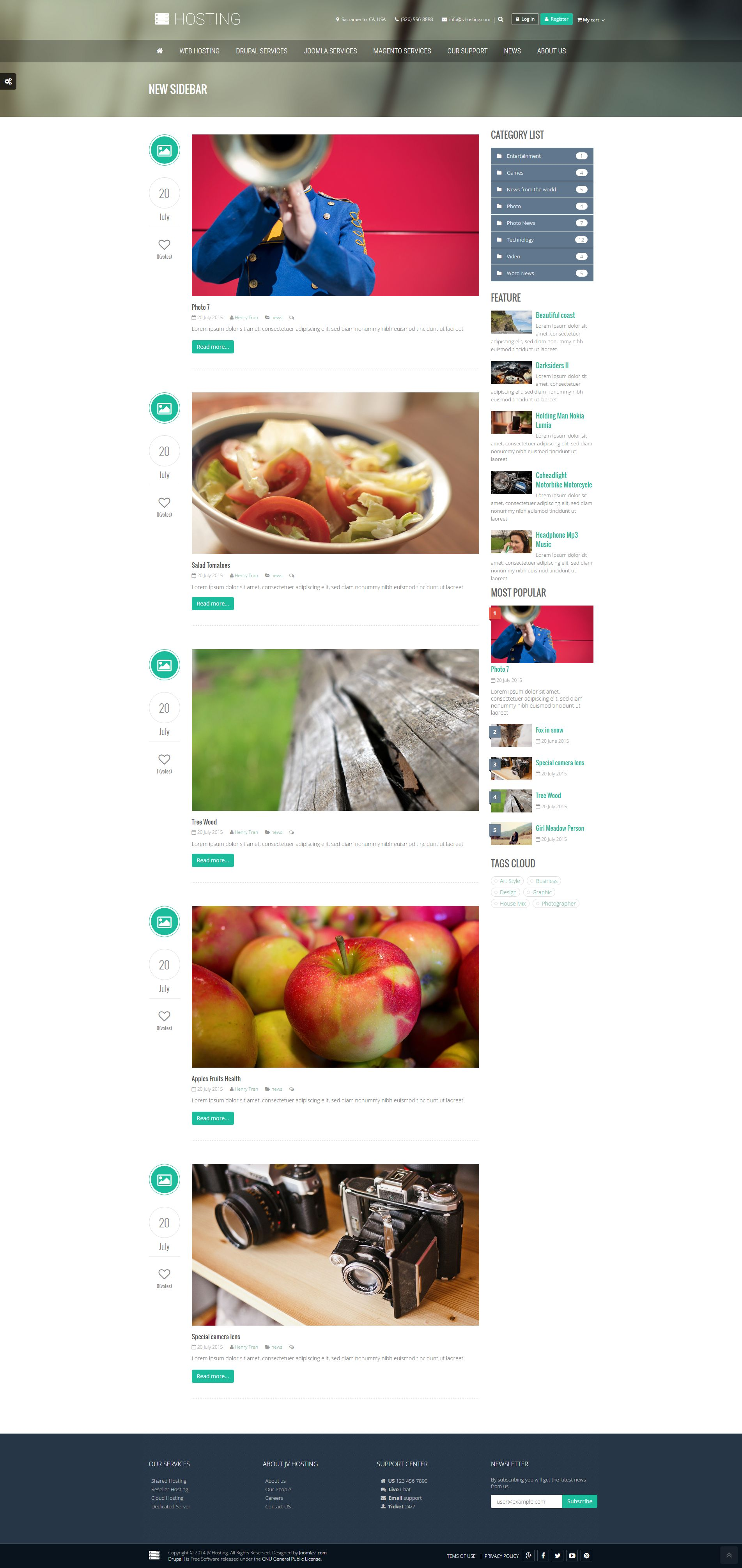 Hosting - Creative Drupal Theme Screenshot 1