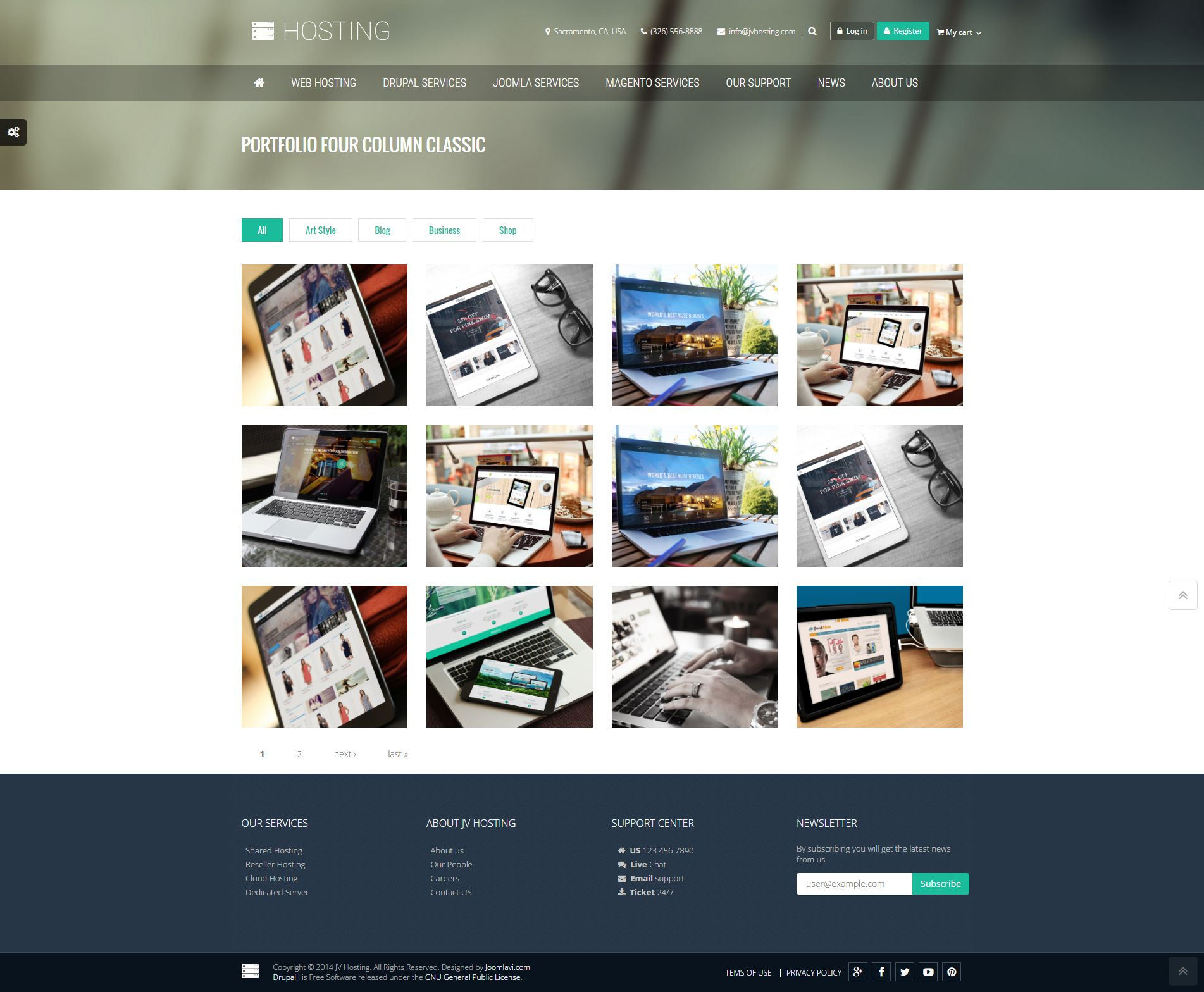 Hosting - Creative Drupal Theme Screenshot 4