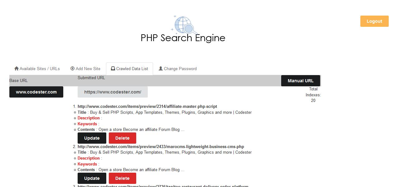 PHP Search Engine - MySQl based Simple Site Search Screenshot 6