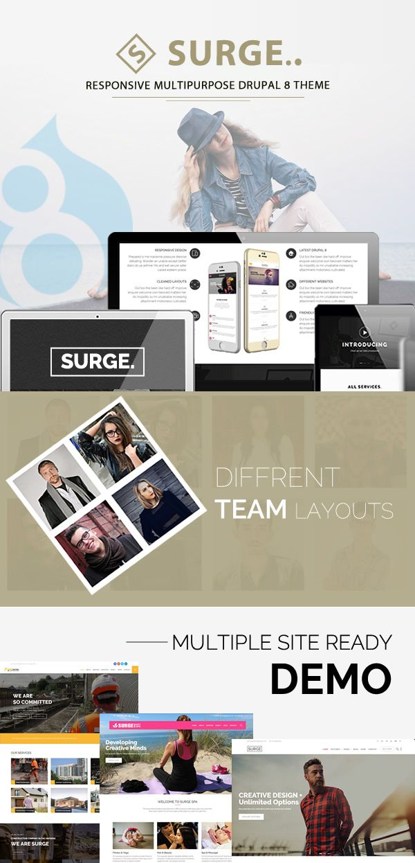 Surge - Multipurpose Responsive Drupal Theme Screenshot 1
