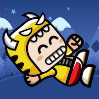 Winter Running Mascot - Buildbox Game Template