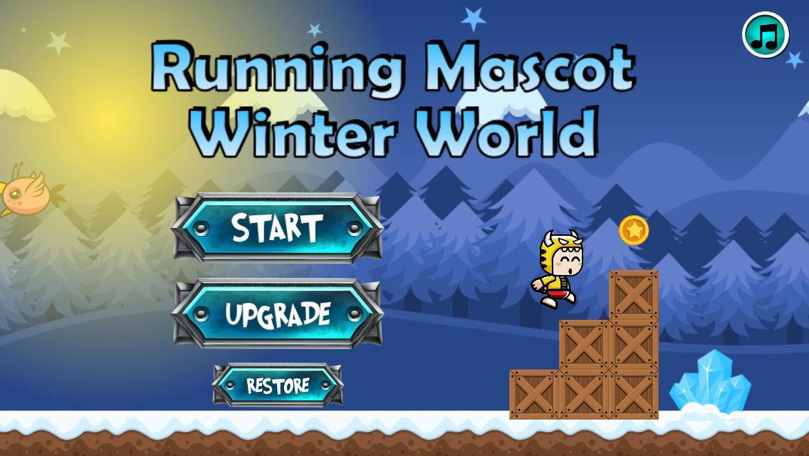 Winter Running Mascot - Buildbox Game Template Screenshot 1