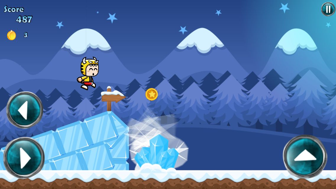 Winter Running Mascot - Buildbox Game Template Screenshot 2