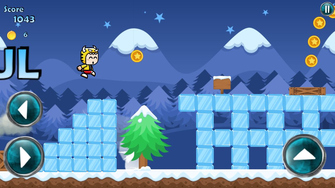 Winter Running Mascot - Buildbox Game Template Screenshot 3