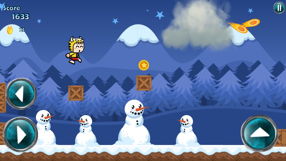 Winter Running Mascot - Buildbox Game Template Screenshot 4