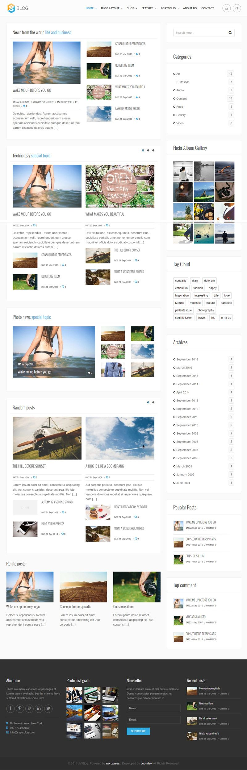 Jv Blog - Responsive WordPress Theme Screenshot 2