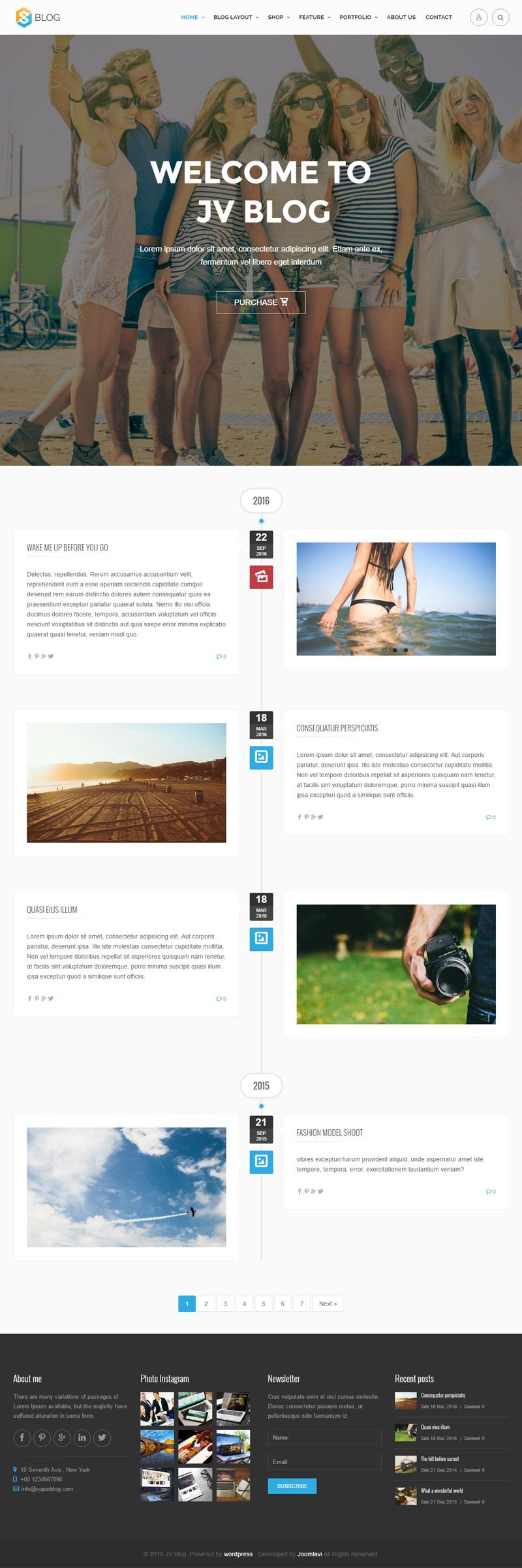 Jv Blog - Responsive WordPress Theme Screenshot 5