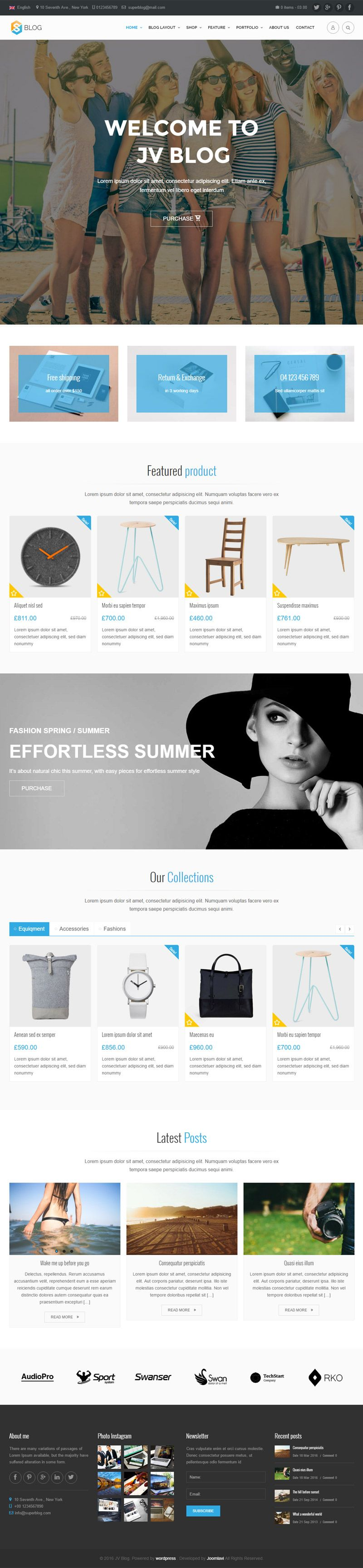 Jv Blog - Responsive WordPress Theme Screenshot 6