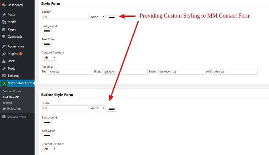 how to html add contact form in opencart