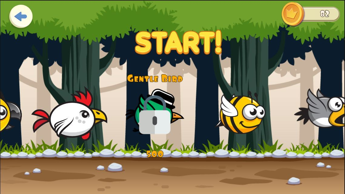 Jungle Flappy Bird - iOS Game Source Code Screenshot 1