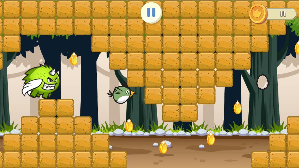 Jungle Flappy Bird - iOS Game Source Code Screenshot 2