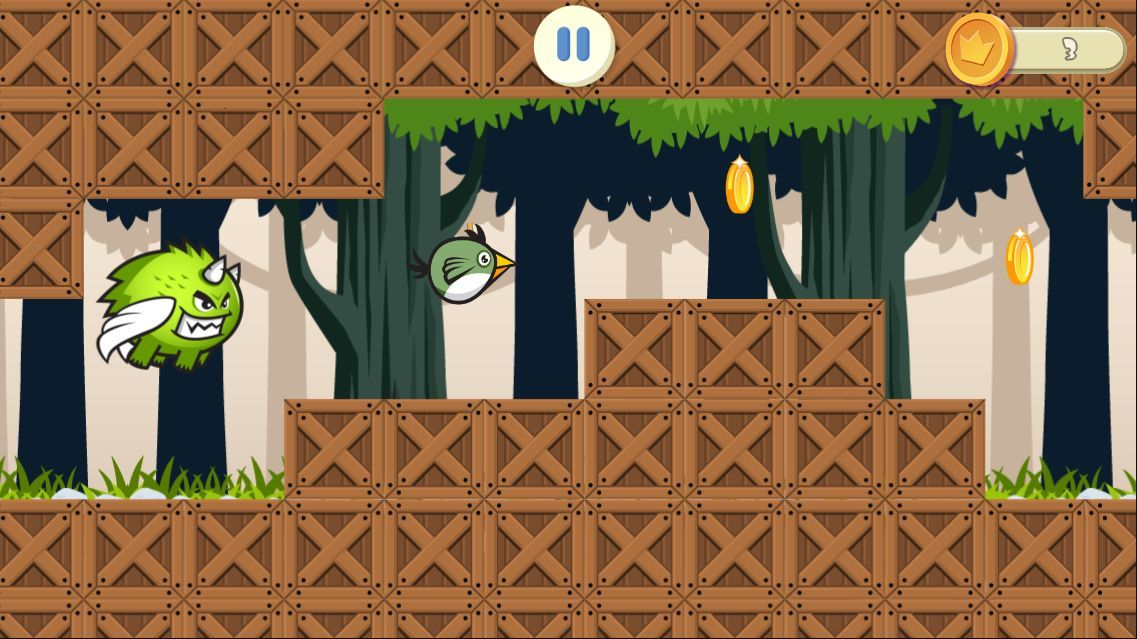 Jungle Flappy Bird - iOS Game Source Code Screenshot 3