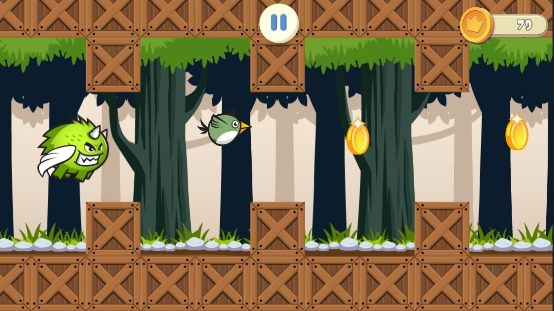 Jungle Flappy Bird - iOS Game Source Code Screenshot 4