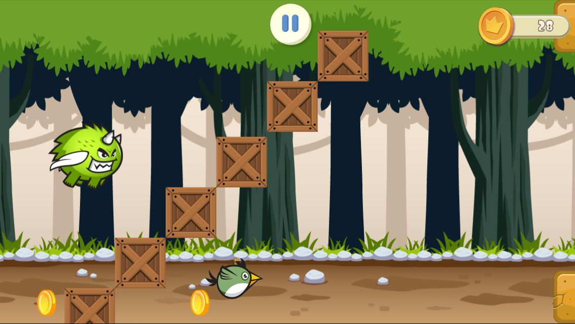 Jungle Flappy Bird - iOS Game Source Code Screenshot 5