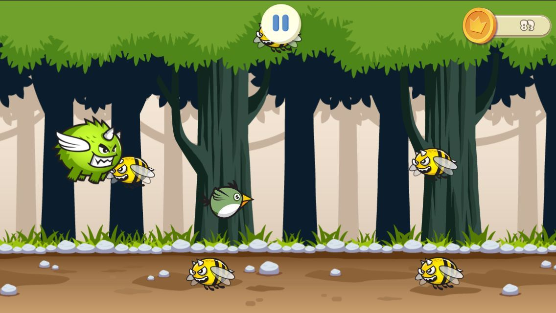 Jungle Flappy Bird - iOS Game Source Code Screenshot 7