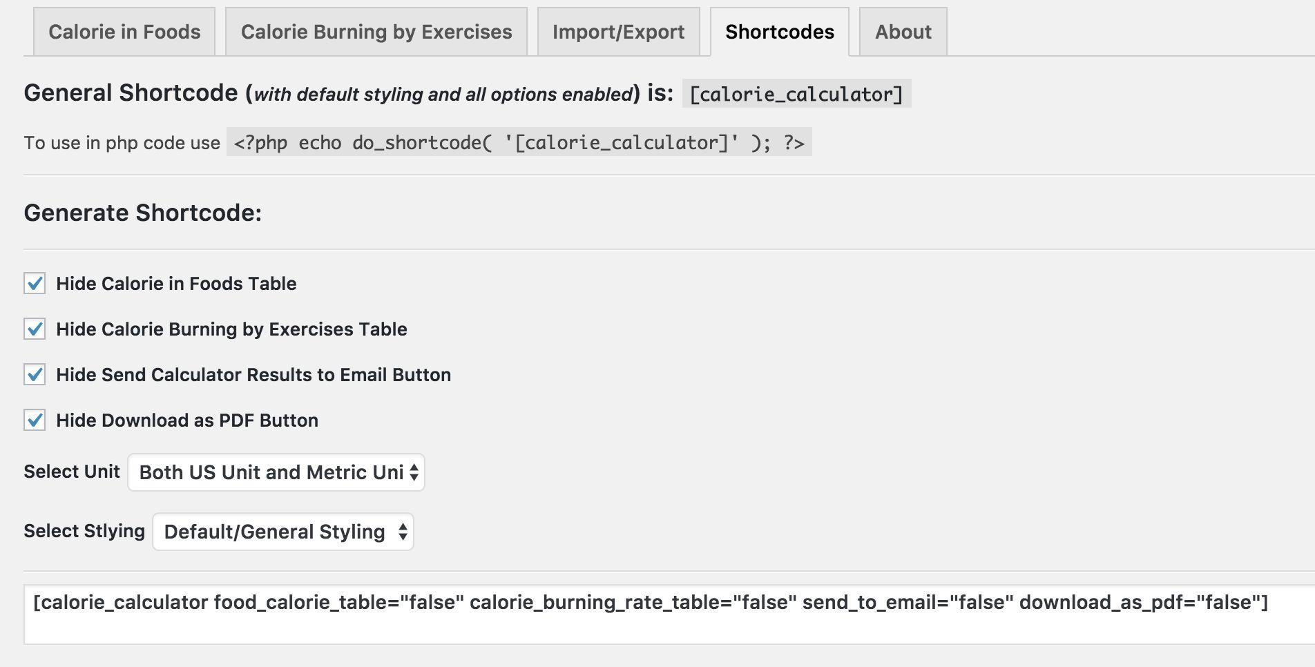 Calorie Calculator Pro - WordPress Plugin