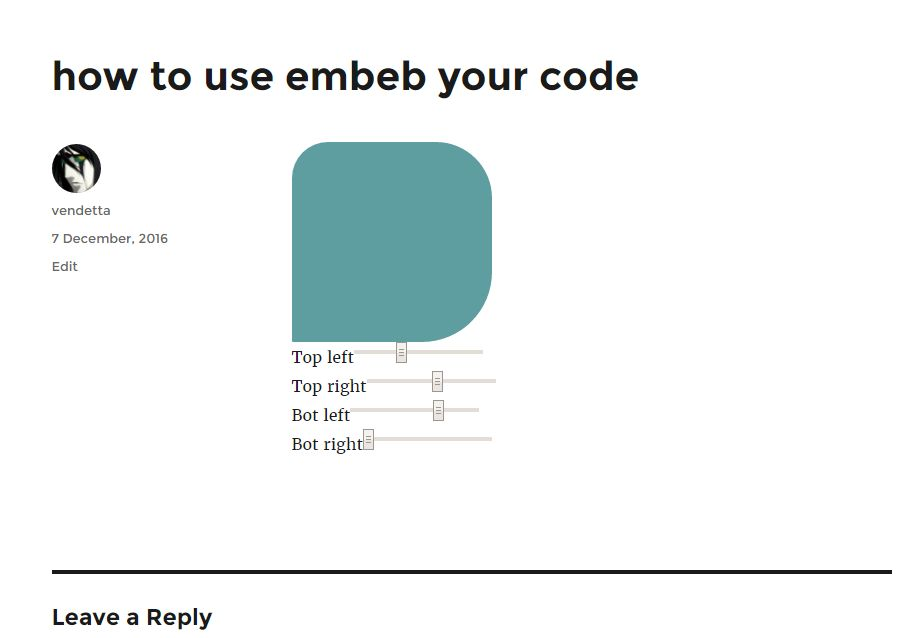 Embed your code - WordPress Plugin