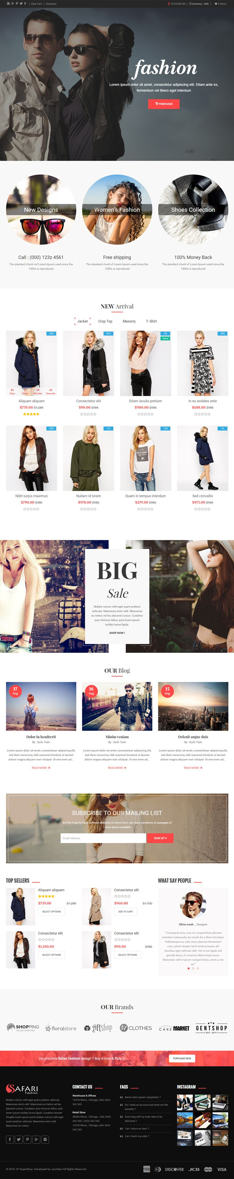 Safari - Responsive Multipurpose Shopify Theme Screenshot 1