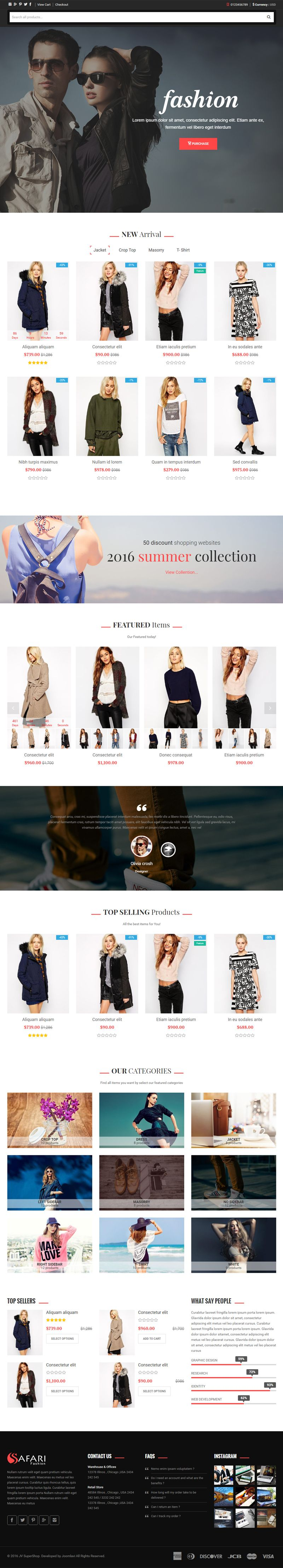 Safari - Responsive Multipurpose Shopify Theme Screenshot 2