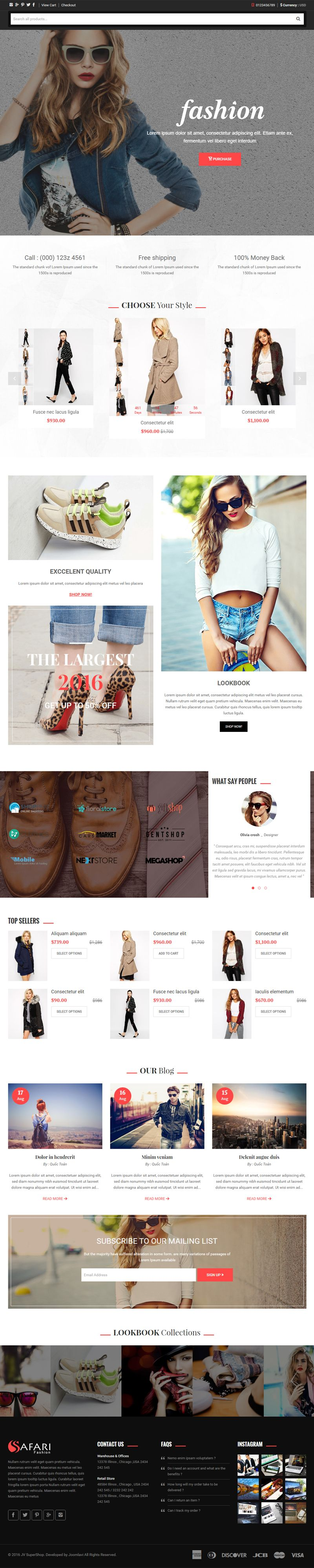 Safari - Responsive Multipurpose Shopify Theme Screenshot 3