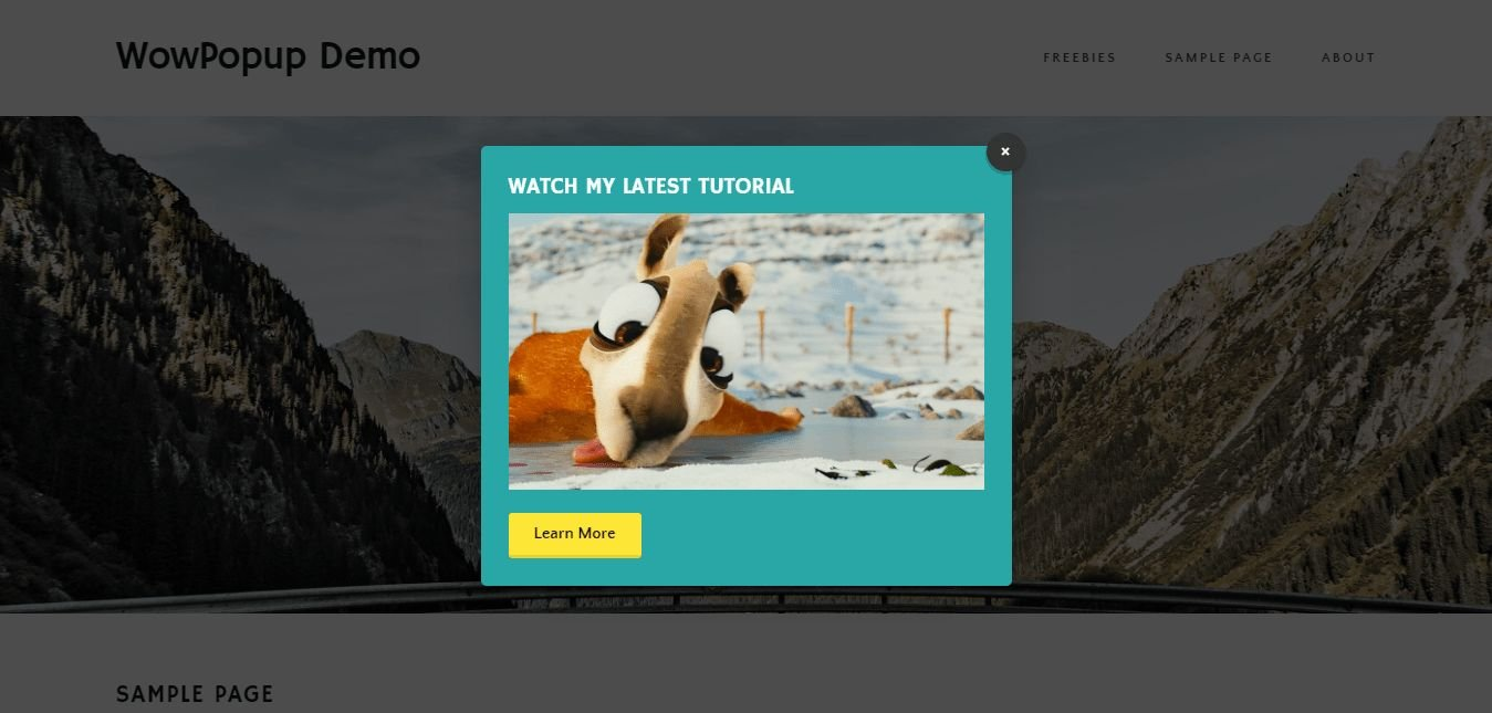 WowPopup - WordPress Popup Plugin Screenshot 20