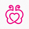 butterfly-heart-logo-template