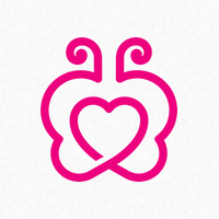 Butterfly Heart - Logo Template
