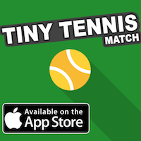 Tiny Tennis Match - iOS Game Source COde