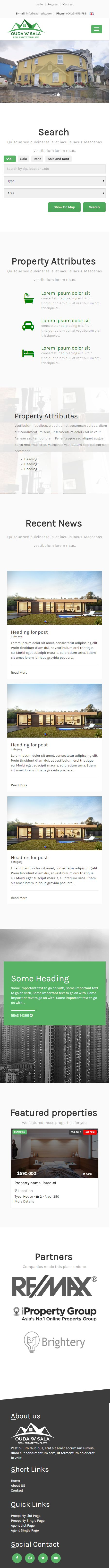 Ouda W Sala - HTML Real Estate Template Screenshot 1