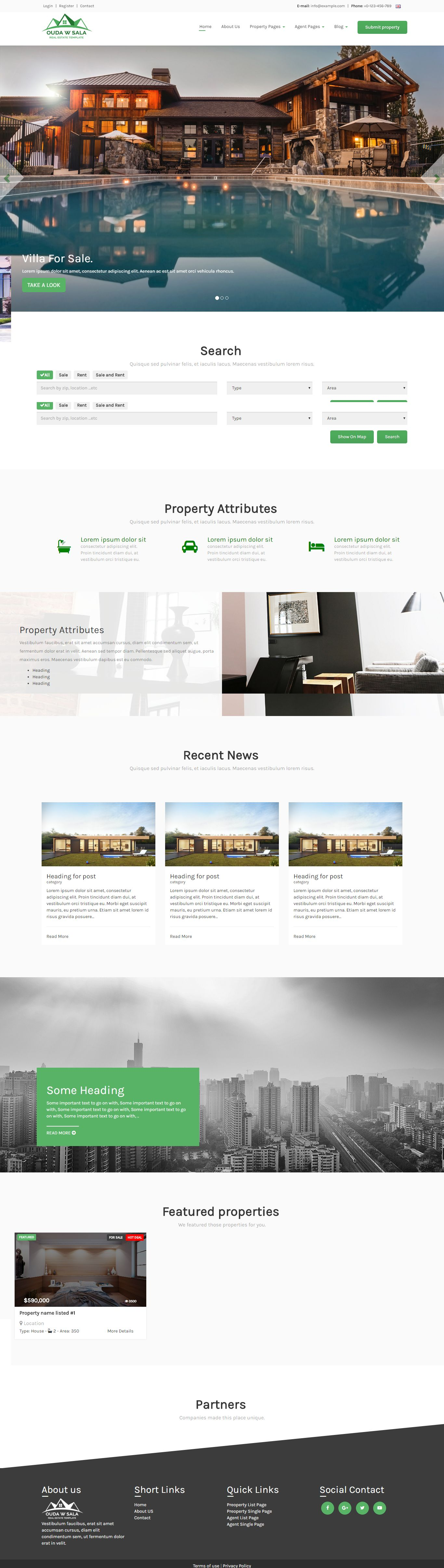 Ouda W Sala - HTML Real Estate Template Screenshot 3