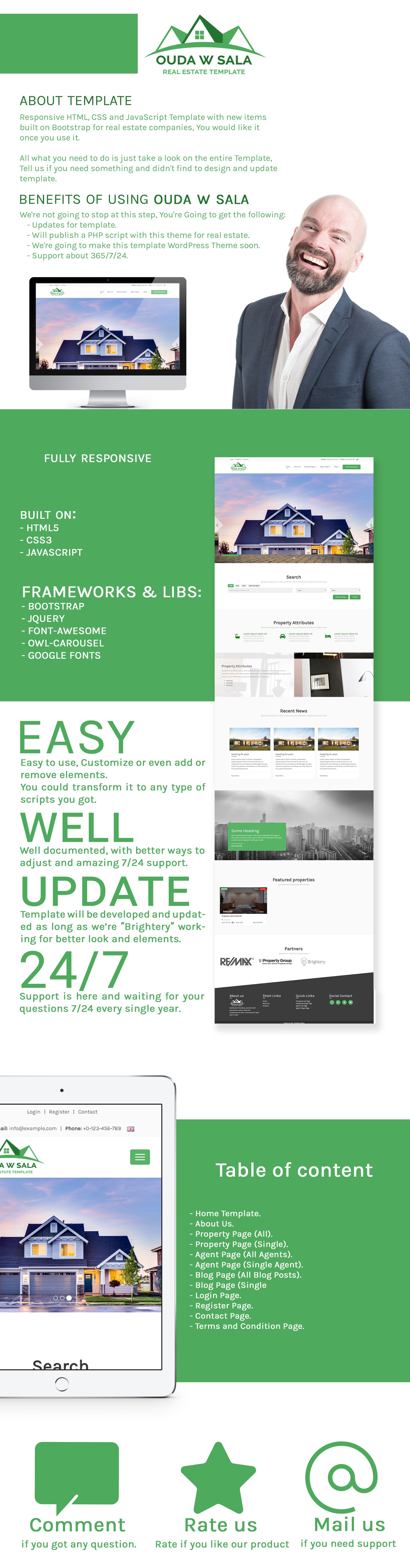 Ouda W Sala - HTML Real Estate Template Screenshot 4