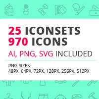 25 Iconsets Bundle