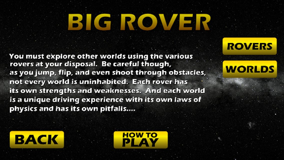 Big Rover - Android Game Source Code Screenshot 1