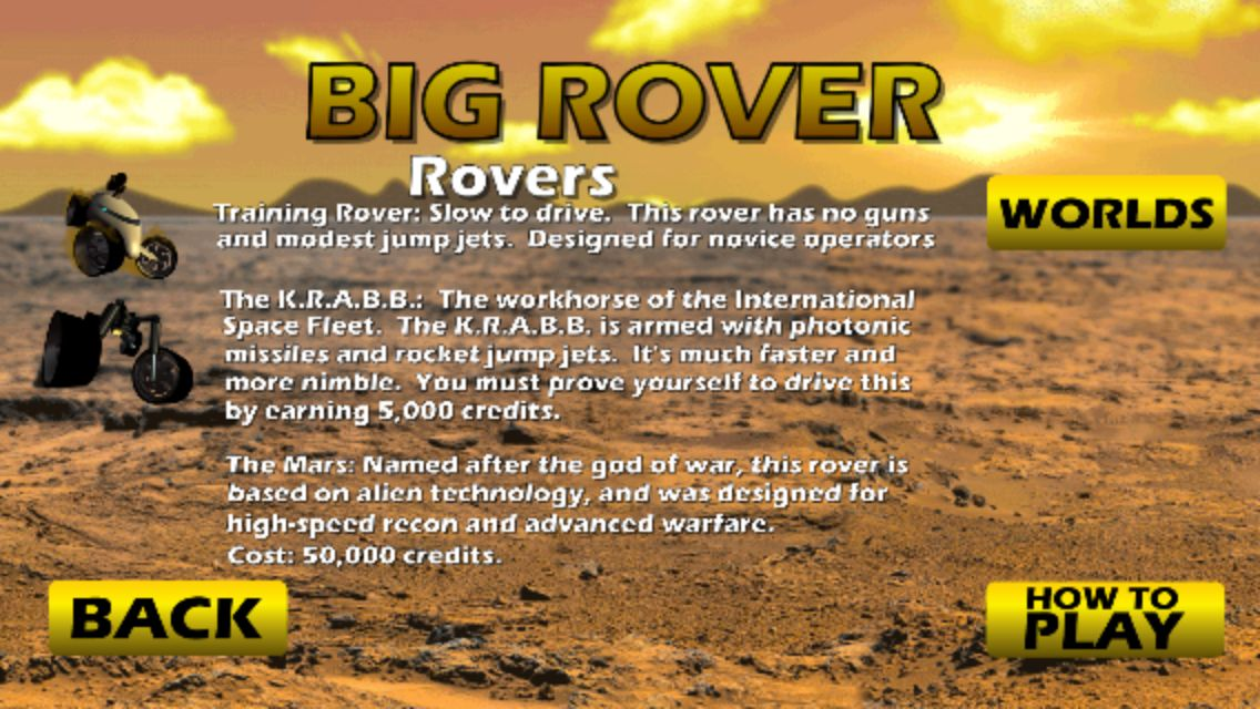 Big Rover - Android Game Source Code Screenshot 7