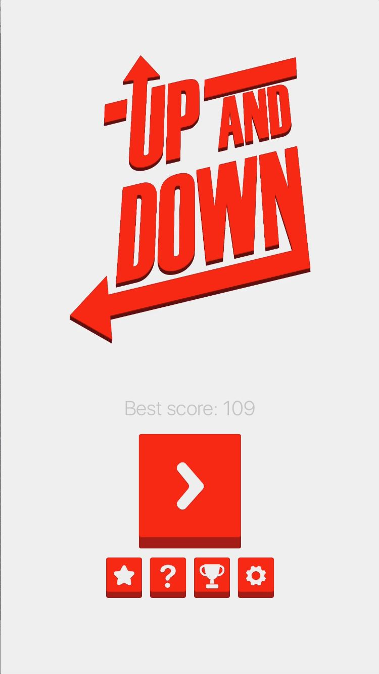 Up And Down - iOS Game Source Code Screenshot 1