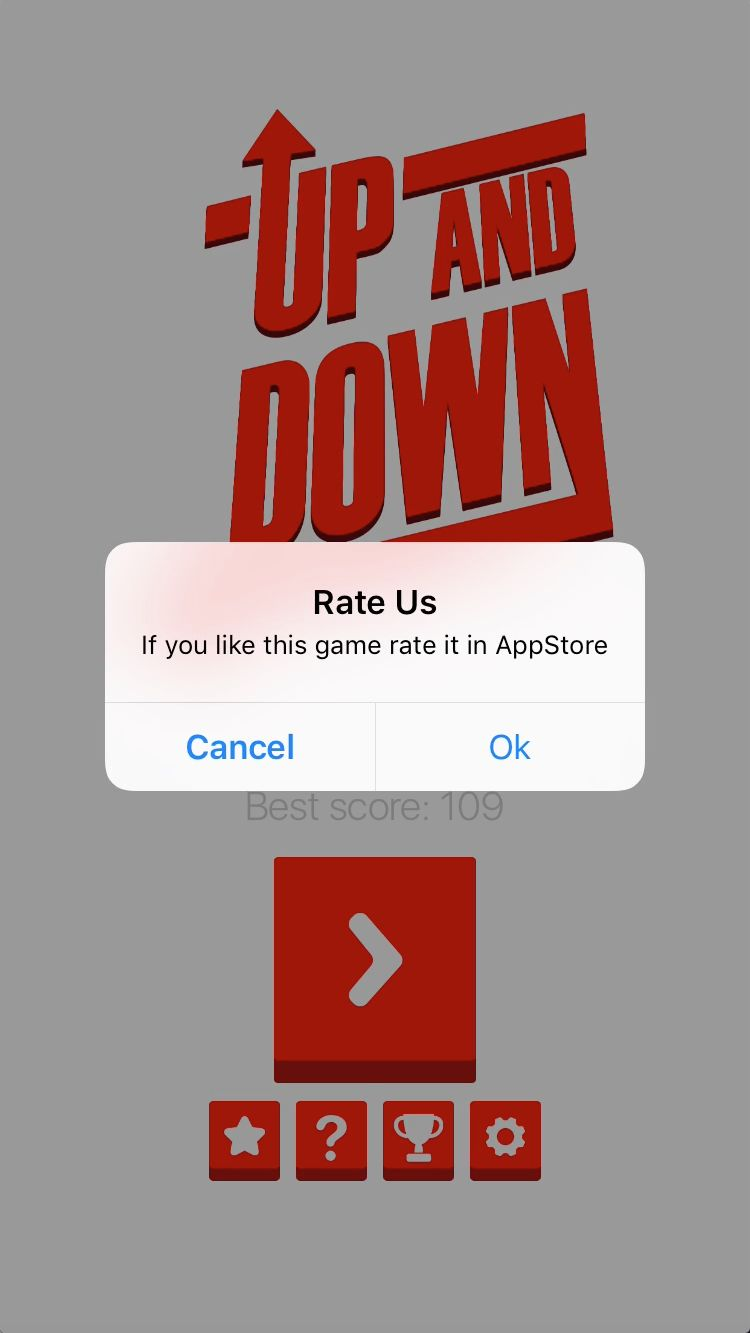 Up And Down - iOS Game Source Code Screenshot 7