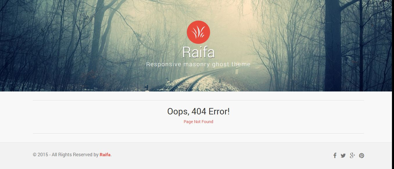 Raifa - Responsive Masonary Ghost Theme Screenshot 6