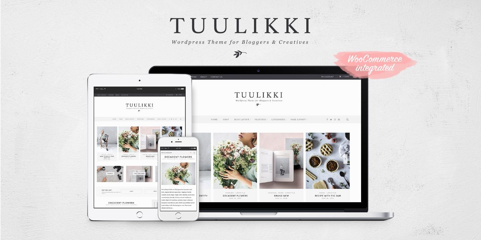 Tuulikki - Blog And Shop WordPress Theme - WordPress Blog