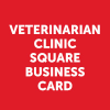 veterinarian-clinic-square-business-card