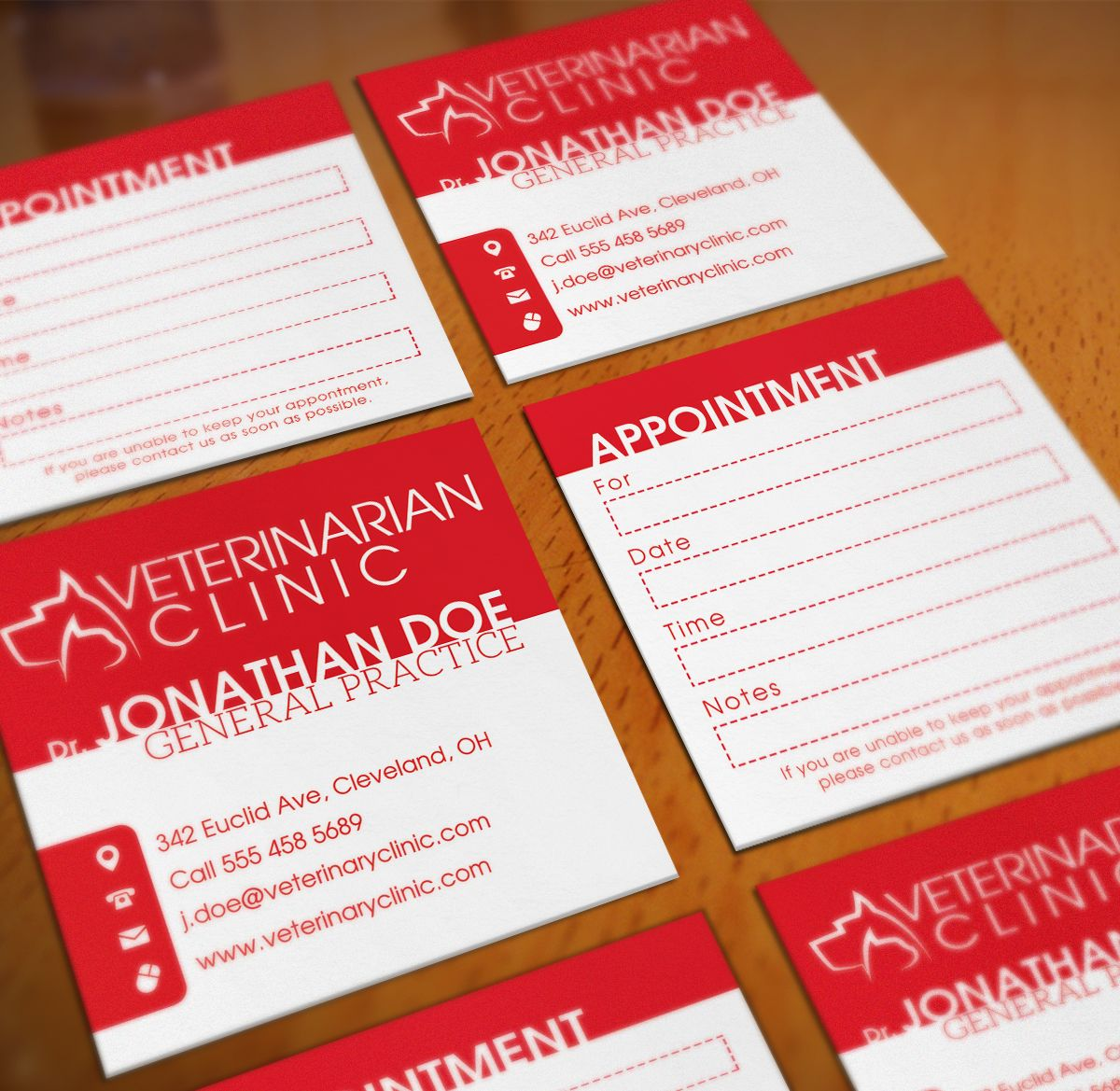 Veterinarian Clinic Square Business Card Screenshot 1