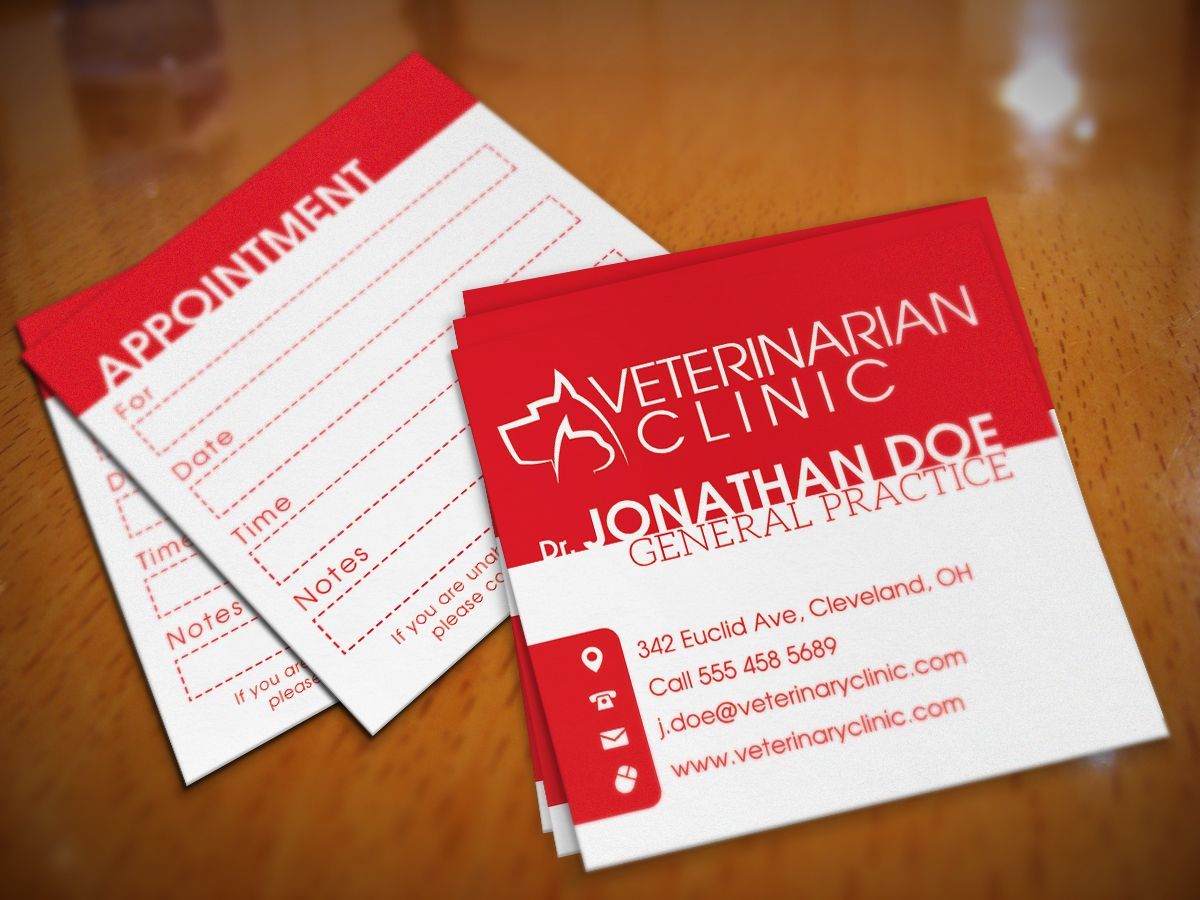 Veterinarian Clinic Square Business Card Screenshot 2