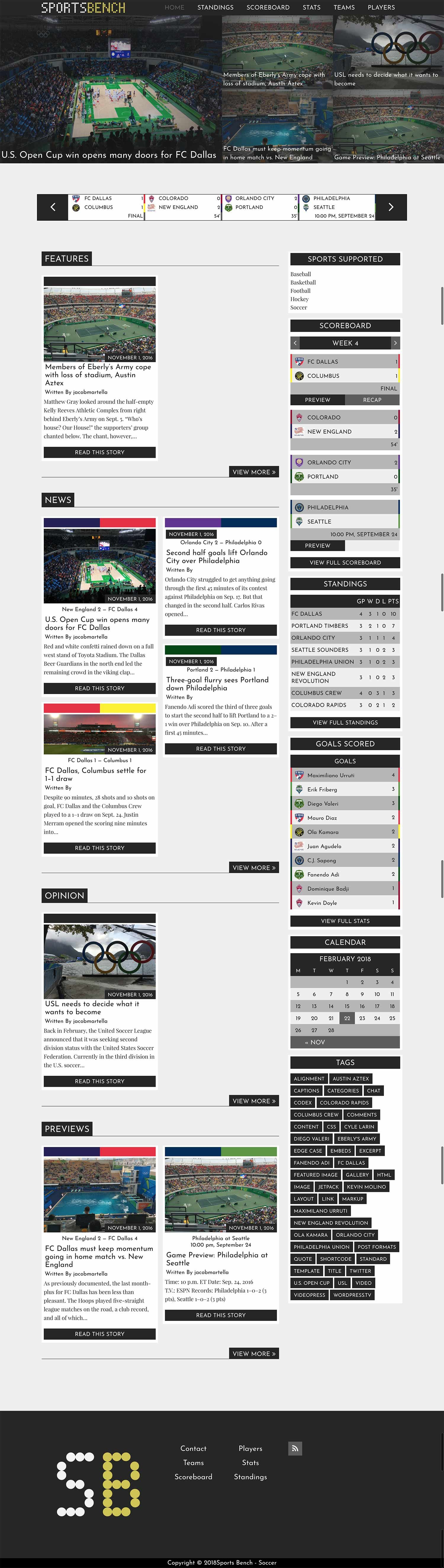 Sports Bench - WordPress Sports Stats Plugin Screenshot 6