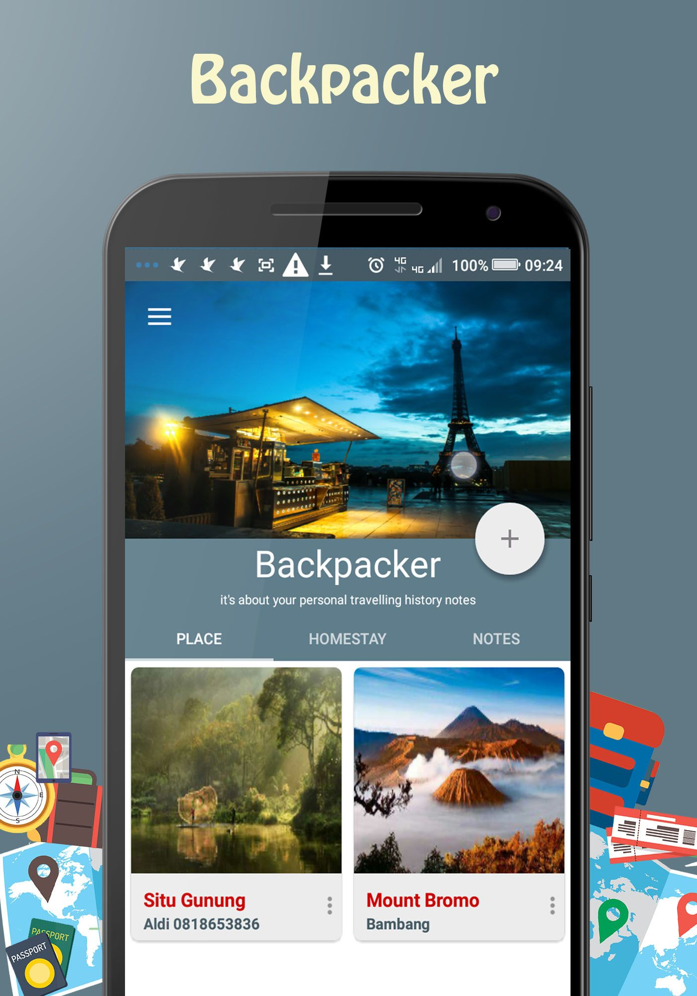 Backpacker - Android Travel App Screenshot 1