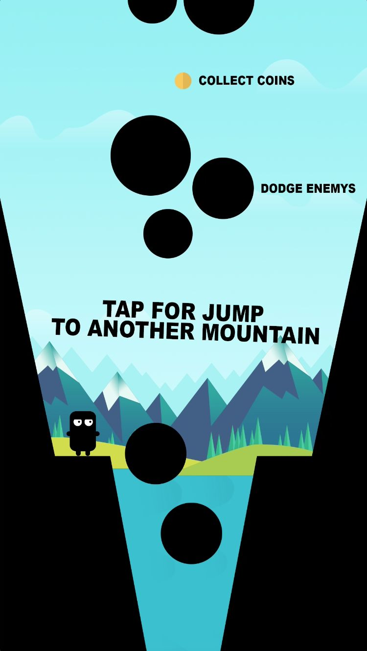 Jump Over a Chasm - iOS Source Code Screenshot 2