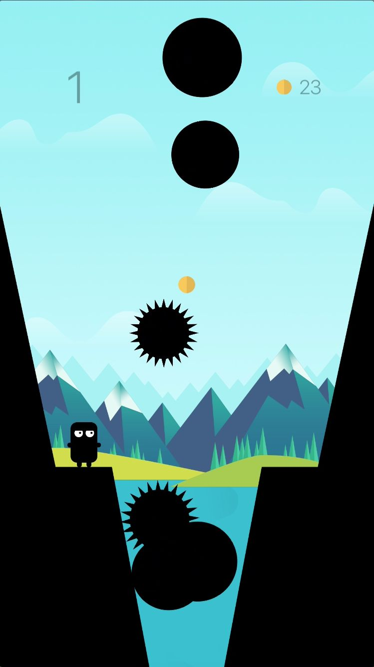 Jump Over a Chasm - iOS Source Code Screenshot 3