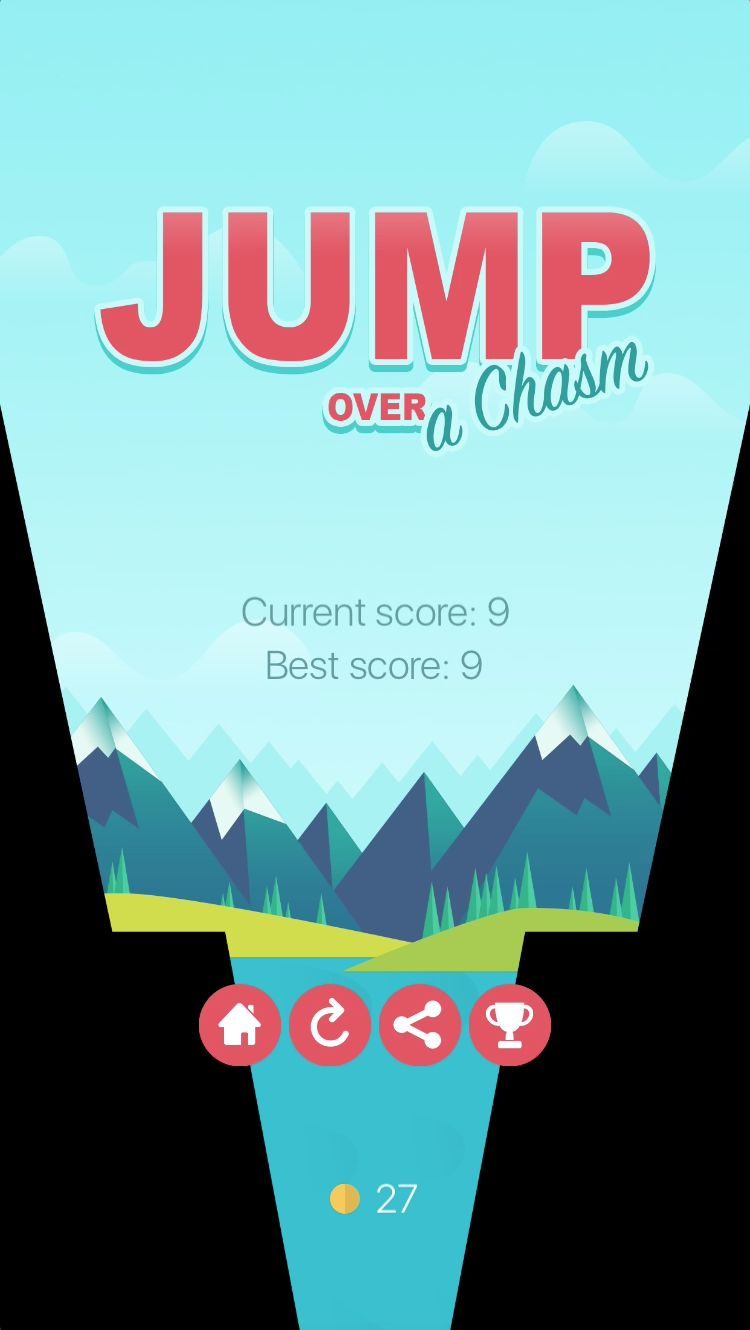 Jump Over a Chasm - iOS Source Code Screenshot 5