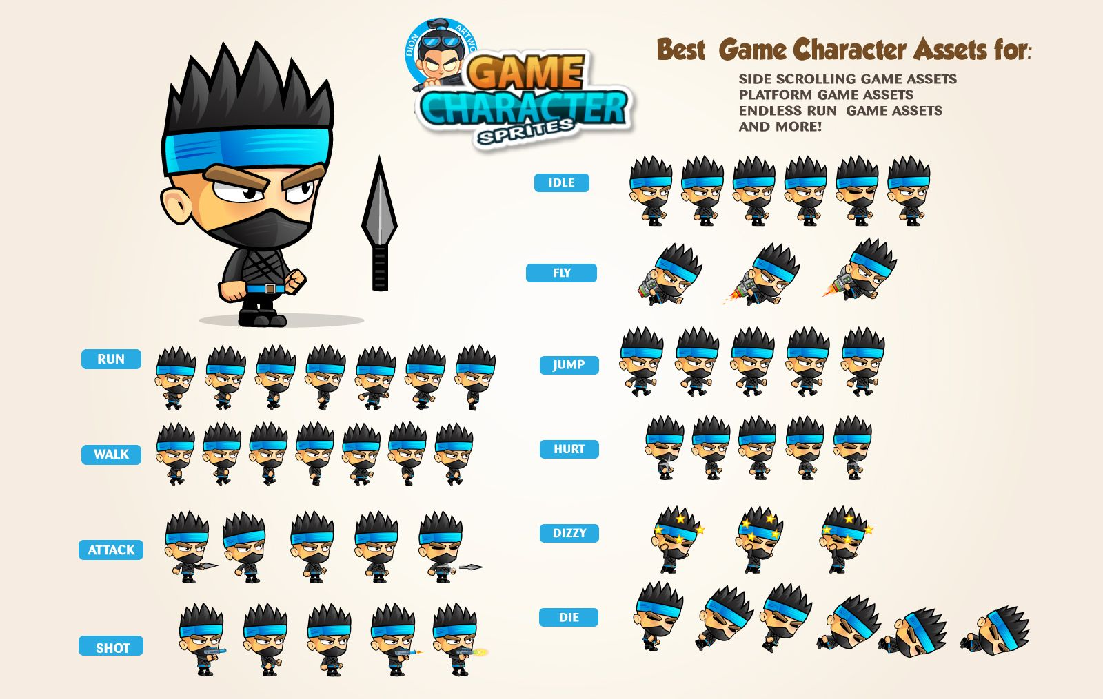 Ninja Game Character Screenshot 1