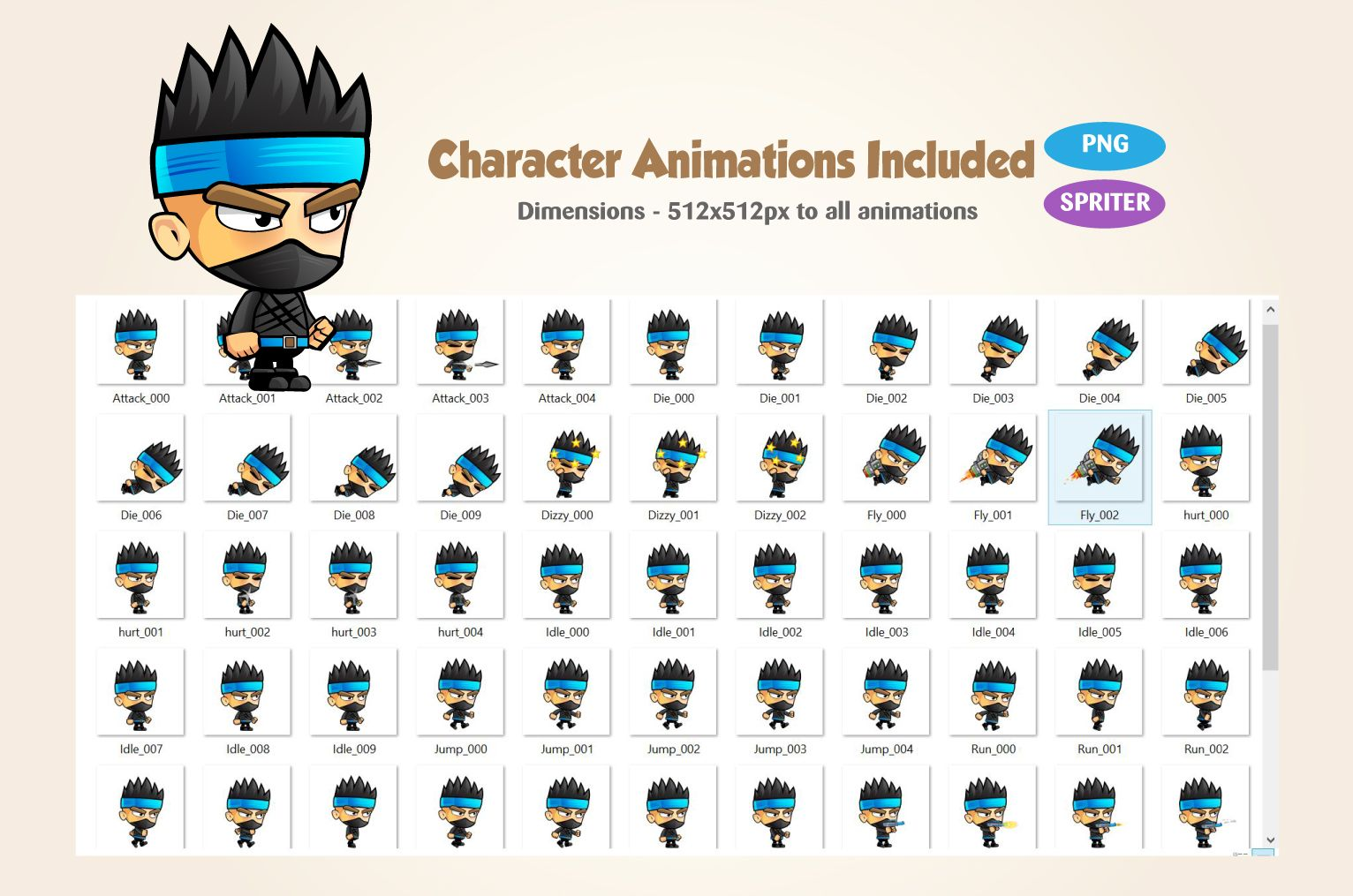 Ninja Game Character Screenshot 2