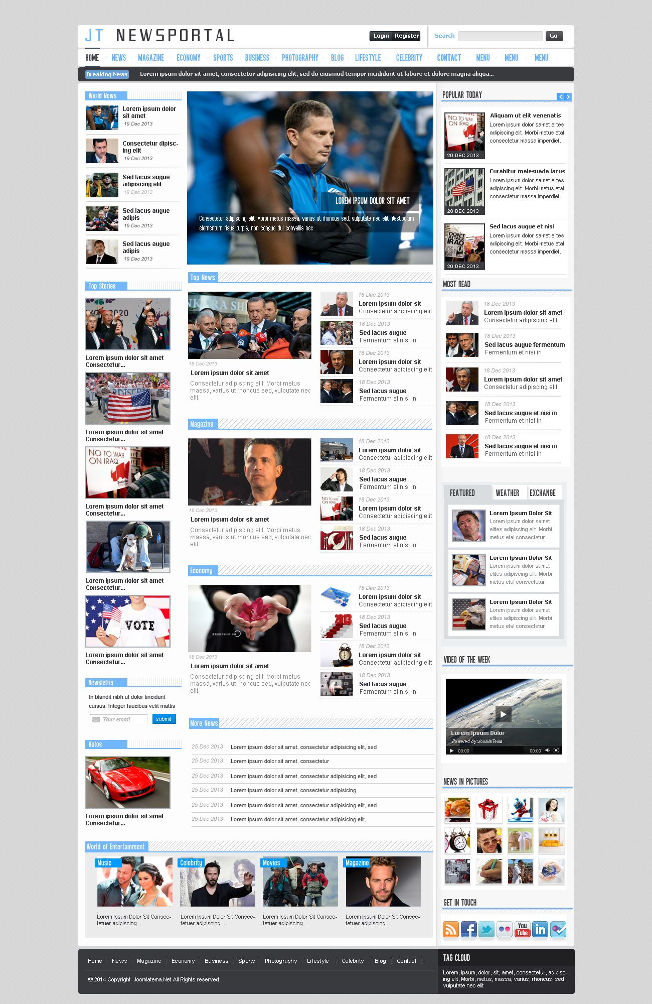 JT News Portal PSD Pack Screenshot 2